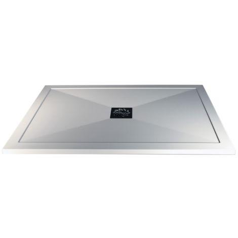 1600 X 760mm Rectangular Slimline Shower Tray & Waste