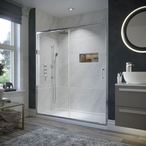 1600mm Framed Sliding Shower Door