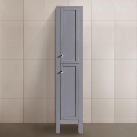 1600mm Matte Grey Bathroom Furniture Tall Modern Cabinet Storage Unit