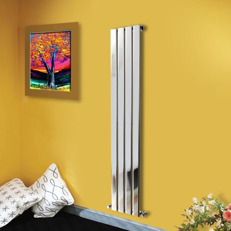 1600x272 Vertical Flat Panel Radiator Bathroom Central Heating Radiators Single Column Chrome