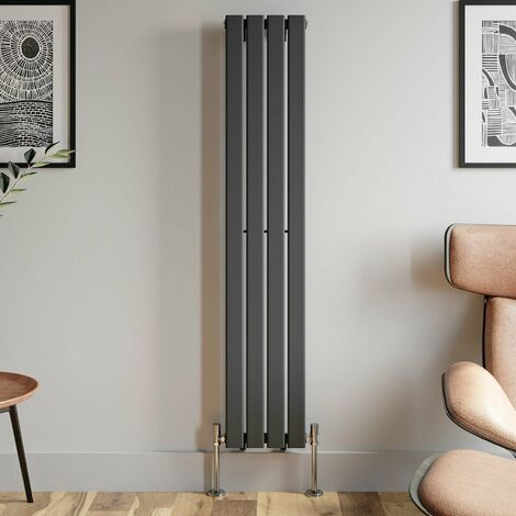 1600x300mm Anthracite Designer Radiator Vertical Flat Panel Single Panel Rad