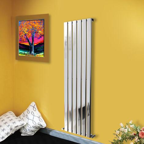 "main image of ""1600x408 Vertical Flat Panel Radiator Bathroom Central Heating Radiators Single Column Chrome"""