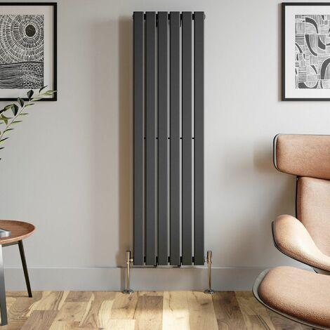 1600x452mm Anthracite Designer Radiator Vertical Flat Panel Single Panel Rad