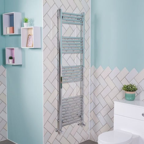 1600x495 Straight Central Heating Towel Rail Bathroom Heated Rad Radiator Chrome