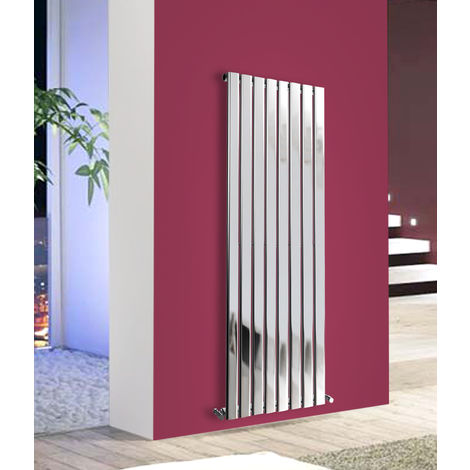 1600x544 Vertical Flat Panel Radiator Bathroom Central Heating Radiators Single Column Chrome