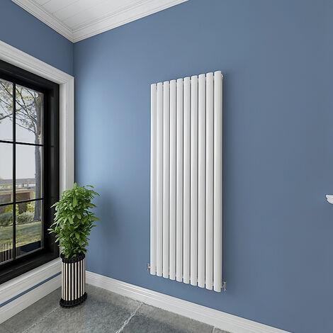 "main image of ""White Vertical/Horizontal Designer Radiator Single/Double Oval Column Heating Rads UK"""