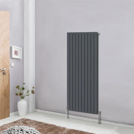 1600x680 Vertical Flat Double Panel Designer Radiator Upright Column Bathroom Heater Central Heating Anthracite
