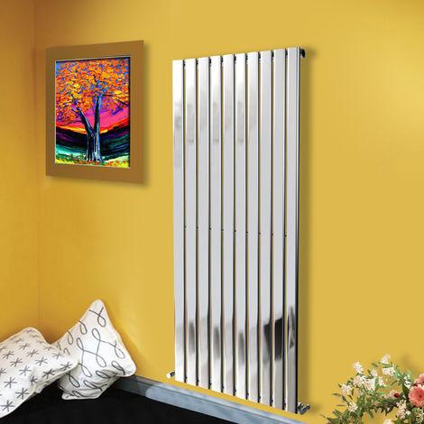 1600x680 Vertical Flat Panel Radiator Bathroom Central Heating Radiators Single Column Chrome