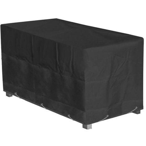 160x100x65cm Bâche de protection de meuble de jardin noir housse de protection de salon de jardin