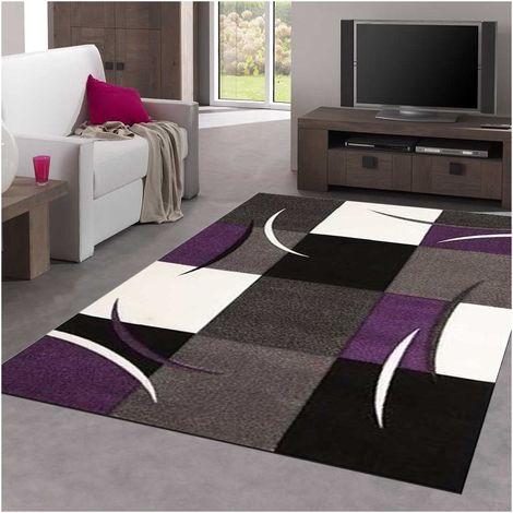 160x160 carre 160x160 - UN AMOUR DE TAPIS - DIAMOND COMMA - tapis Moderne Design Tapis salon - Tapis carré - tapis Rouge, gris, noir, créme - Couleurs et Tailles Disponibles
