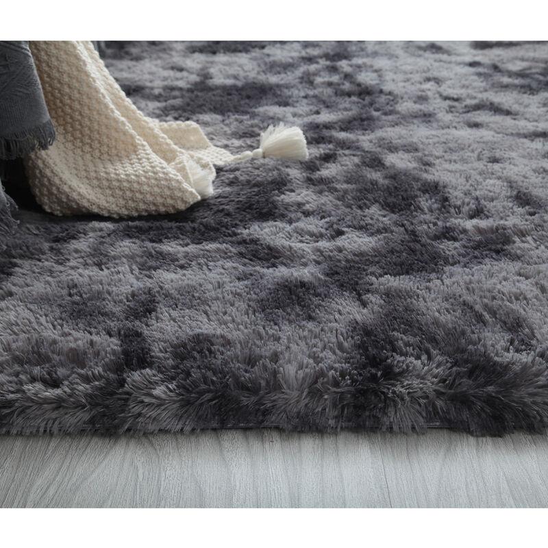 160x230cm extra große flauschige weiche zottelige Teppich Teppich Wohnzimmer Schlafzimmer Bodenmatte dunkelgrau dunkelgrau 160x230cm