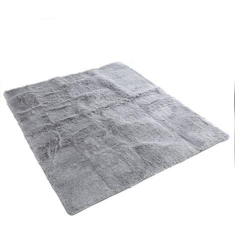 160x230cm Tapis de Salon Shaggy Antidérapant Tapis de yoga Chambre Maison Décor
