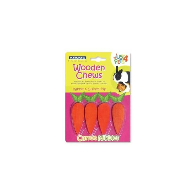 Image of 164001 - Just 4 Pets Wooden Chew Carrot Nibbles