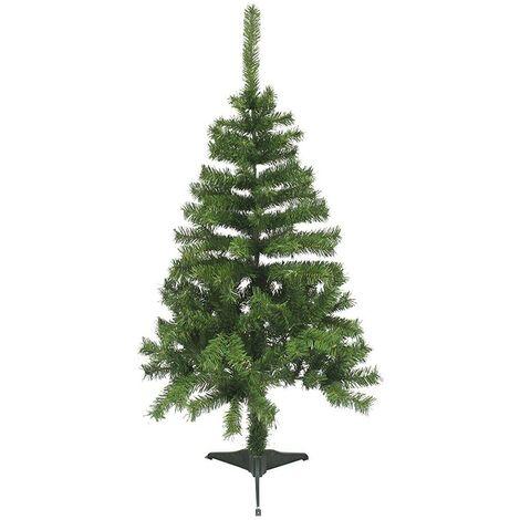 164068 Árbol de Navidad 120H cm con 145 ramas plegables en PVC abeto artificial