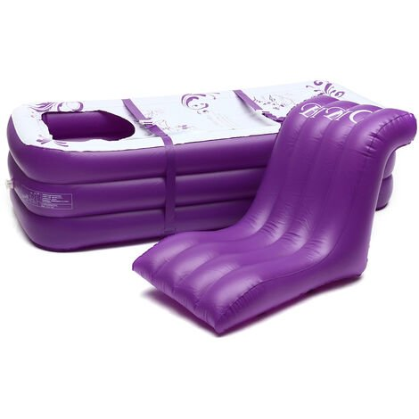 165*85*45CM Baignoire Gonflable Portable PVC Trempage Spa - Violet