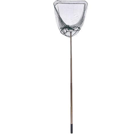 1.65m Folding Fishing Brail Net Telescopic Fishing Landing Net Scoop Net Fishing Gear Retractable Aluminum Alloy Pole