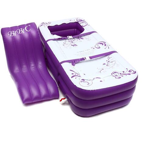 165x85x45CM Baignoire Gonflable Grande Taille Baignoire SPA PVC Pliant Portable Pour Adultes VIOLET