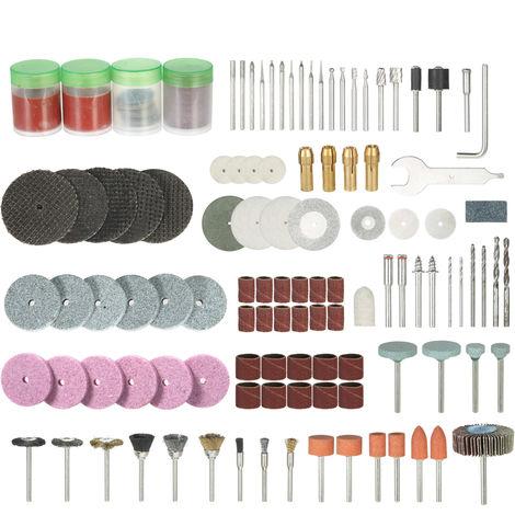 """166 piezas, juego de accesorios rotativos con vastago de 1/8 """", broca para pulir y lijar"""
