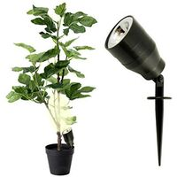 1667963 LED Pflanzenleuchte mit Nachtsensor Dekoleuchte LED Schwarz X840821
