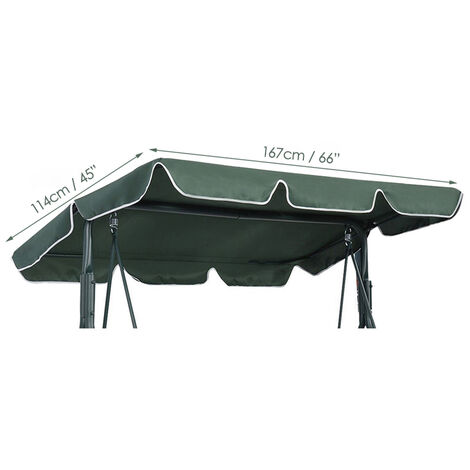 167 * 114cm Roof Replacement of the outdoor green swing awning