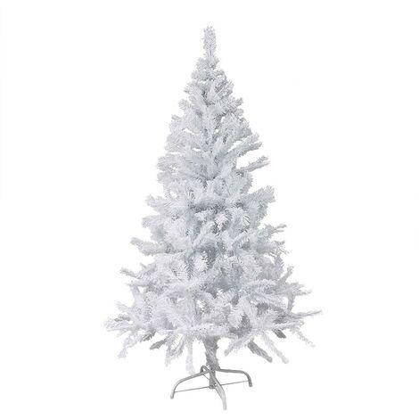 168765 Árbol sintético de navidad mod. BIANCONATALE 210cm y 860 puntas -Blanco