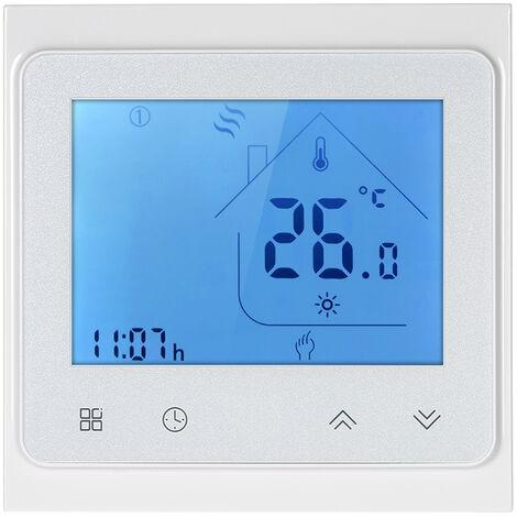 16A regulateur de temperature Wi-Fi telephone portable controle sans fil BHT-002-GB-WiFi thermostat de chauffage electrique au sol blanc