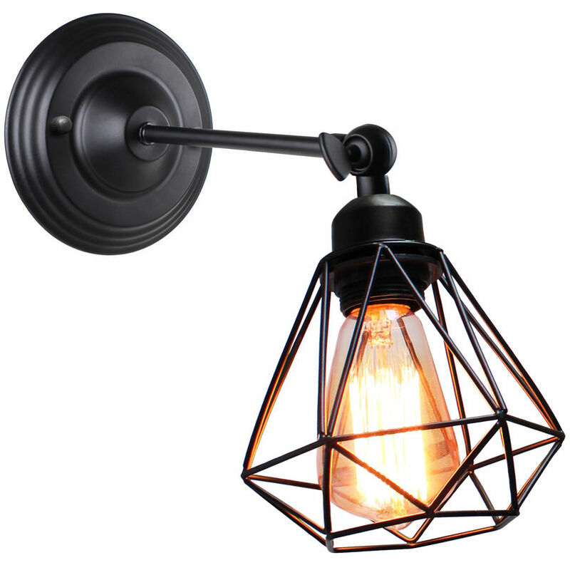 Image of 16cm Antique Wall Lamp Industrial Wall Light Adjustable Swing Arm Wall Light Retro Wall Sconce Black