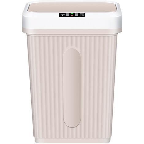 16L / 4Gal Touch-Free Poubelles Puce Knock Poubelles Automatique Garbage Can Avec Capteur De Mouvement Infrarouge Usb Couvercle De Charge Touchless Poubelles, Gris