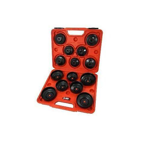 16pc Cap Type Oil Filter Wrench Removal Puller Set