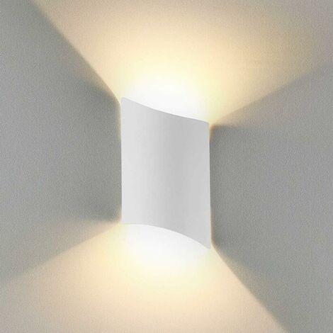 16W Applique Murale led Intérieur exterieur Huat en bas Lampe murale LED Moderne Blanc chaud Imperméable IP65 Appliques Murales interieures en Aluminium pour Salon Escalier Couloir Chambre Jardin[Classe énergétique A++]