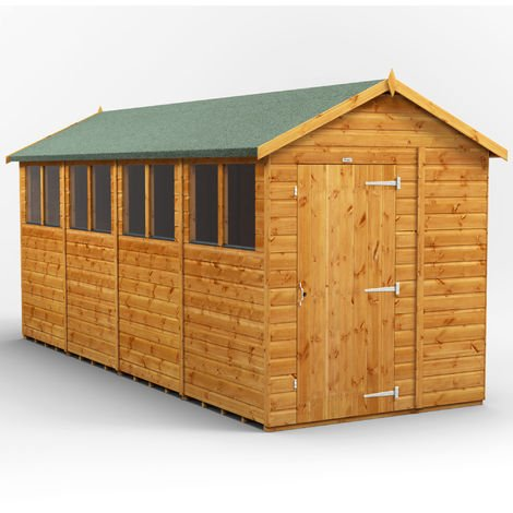 16x6 Power Apex Garden Shed