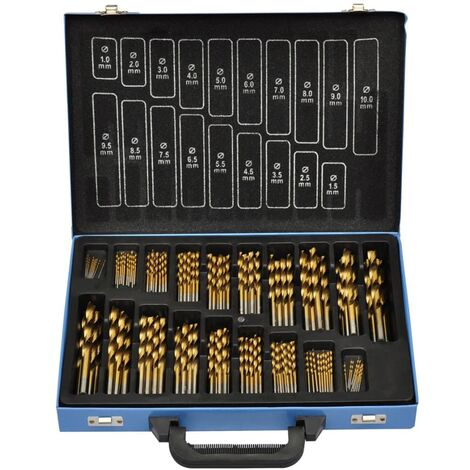 170-Piece Titanium Drill Bit Set in Metal Box HSS TI