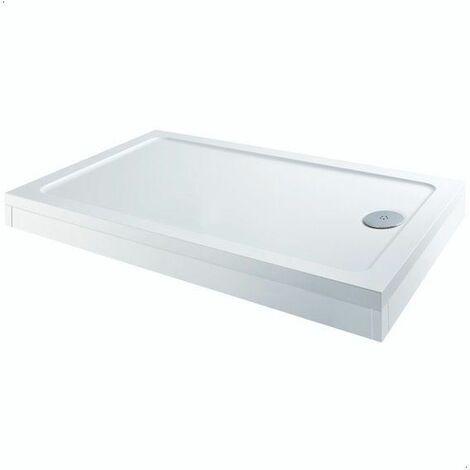 1700 x 700mm Shower Tray Rectangular Easy Plumb Premium Anti-Slip FREE Waste
