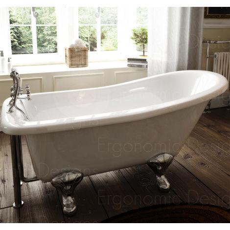 1700 X 730 Bathroom Traditional Freestanding Roll Top Bath