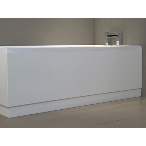 1700mm High Gloss White Bath Front Panel