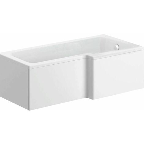 1700mm L Shaped Shower Bath Right Hand Bathtub Only