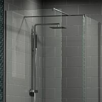 1700x700mm Walk In Enclosure 1100 & 700mm Wet Room Screens 8mm Glass Tray Waste