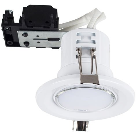 17069 Fire Rated GU10 Downlight White NO BULB