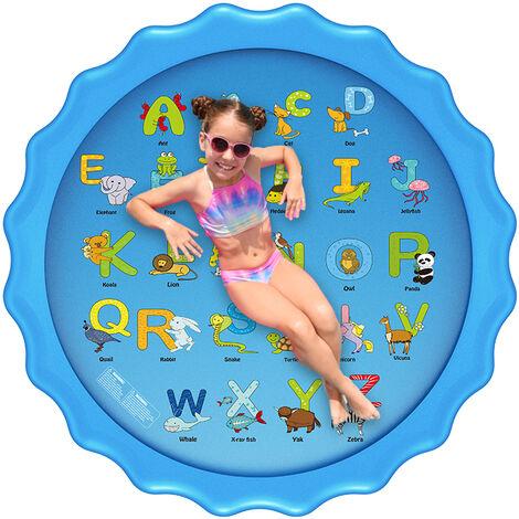 170CMx10CM Piscina inflable Summer Splash Sprinkle Sprinkler Playmat Alfombra de juego de agua al aire libre Juguete para niños Niños pequeños (Tipo B - Alfombra redonda para salpicaduras 170cm)