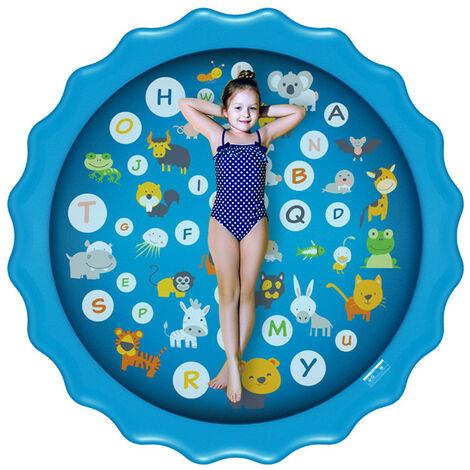 170CMx10CM Piscina inflable Summer Splash Sprinkle Sprinkler Playmat Alfombra de juego de agua al aire libre Juguete para niños Niños pequeños (Tipo D-170cm Lacy Splash Mat)
