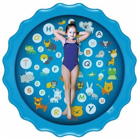 170CMx10CM Piscine gonflable Summer Splash Sprinkle Sprinkler Playmat Outdoor Water Play Mat Jouet pour enfants Enfants tout-petits (Type D-170cm Lacy Splash Mat)