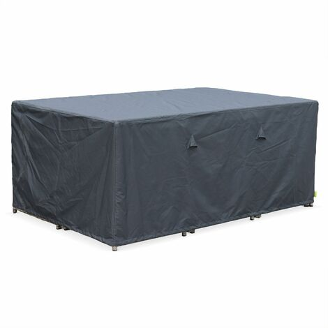 172x112cm dark grey dust cover - Rectangular, PA-coated polyester dust cover for the Vasto 10 and Cubo 10 garden tables