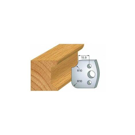 175 : jeu de 2 fers 40 mm congé quart de rond 10 mm pour porte outils 40 et 50 mm