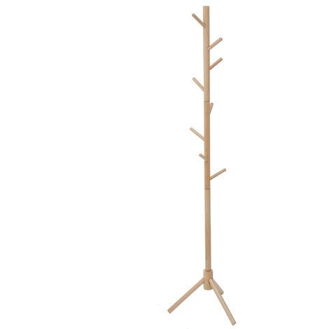 175cm Wooden Tree Coat Rack Stand Floor Standing Coat Racks 6 Hooks