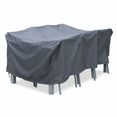175x124cm dark grey dust cover - Rectangular, PA-coated polyester dust cover for the Chicago, Orlando and Bergamo garden tables