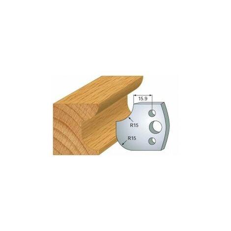 177 : jeu de 2 fers 40 mm congé quart de rond 15 mm pour porte outils 40 et 50 mm
