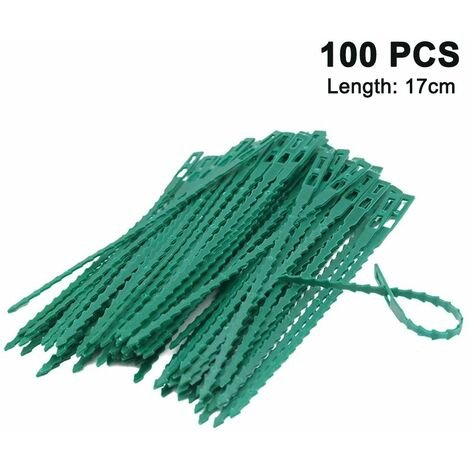17cm plant ties adjustable 100 pieces, reusable plant ties plastic quick ties for plant support