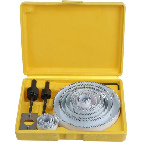 17PCS Bi-Metal Carbon Steel Hole Saws Kit for Wood, Gypsum Board and 19-127mm Plasterboard