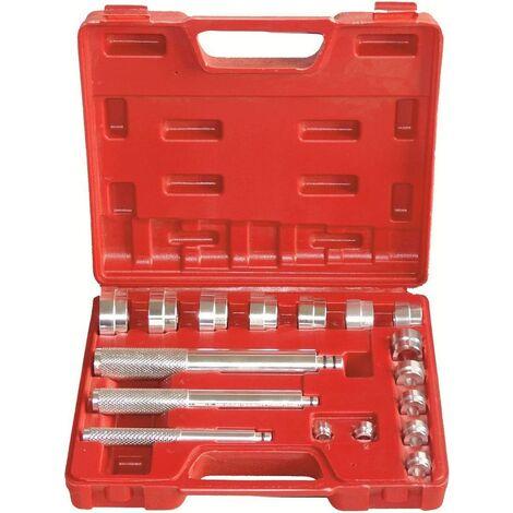 17tlg. Kit d'outils de roulement de roues Outil extracteur roulement de roue extracteur Montage pour l'extraction de roulements à bille