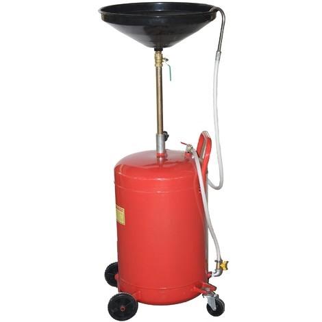 18 Gallon Auto Garage Air Oil Waste Drain Drainer Tank Pan Caster